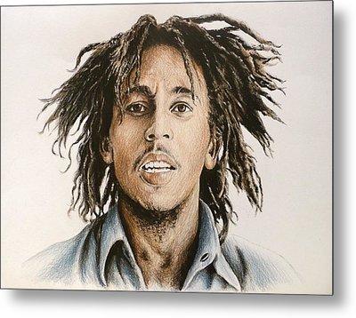 Bob Marley Metal Print by Andrew Read