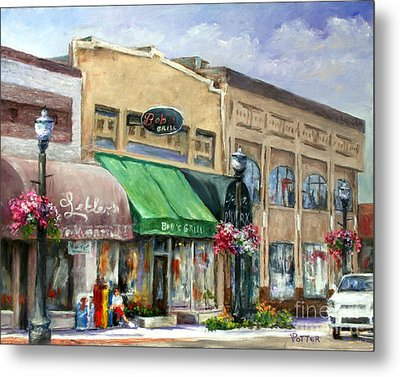 Bob's Grill Metal Print by Virginia Potter