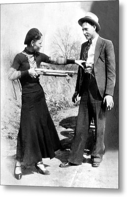 Bonnie Parker And Clyde Barrow, 1933 Metal Print by Everett