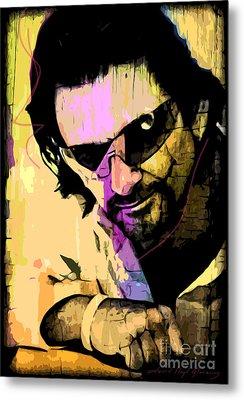 Bono Metal Print by David Lloyd Glover