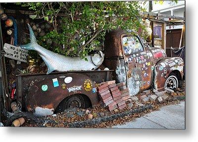 B.o.'s Fish Wagon - Key West Florida Metal Print by Bill Cannon