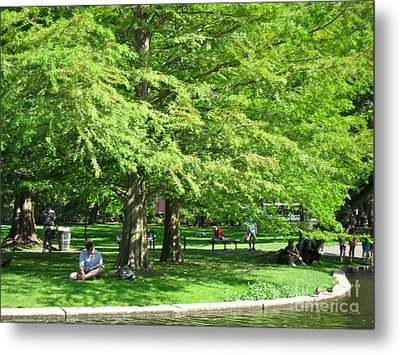 Metal Print featuring the photograph Boston Summer by Beth Saffer
