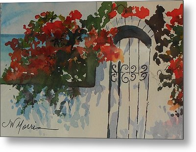 Bougainvillea At My Beach Cottage Metal Print by Jill Morris