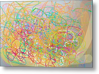 Bows And Flows Of Angel Hair Metal Print by Naomi Jacobs