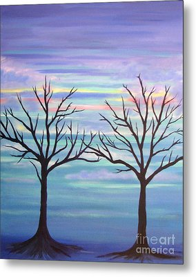 Metal Print featuring the painting Branching Out by Stacey Zimmerman