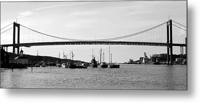 Bridge And Boats Metal Print by Smallfort Photography Collection