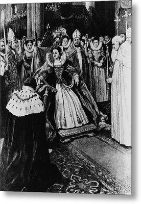British Royalty. Queen Elizabeth I Metal Print by Everett