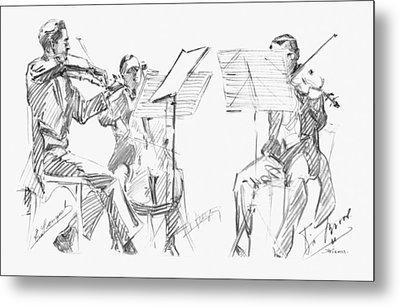 Brussels String Trio Metal Print by Granger