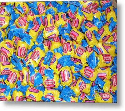 Metal Print featuring the photograph Bubble Gum Bubble Gum by Beth Saffer
