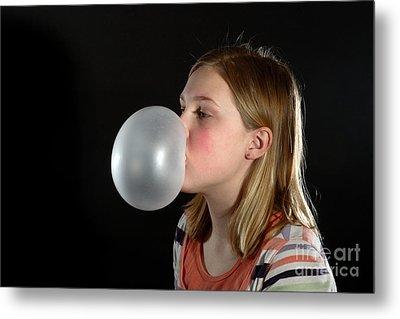Bubblegum Bubble 3 Of 6 Metal Print