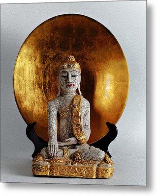 Metal Print featuring the photograph Buddha Girl by Gary Dean Mercer Clark