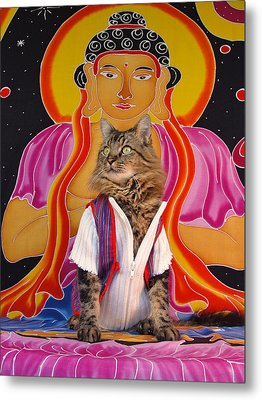 Buddhapuss Metal Print