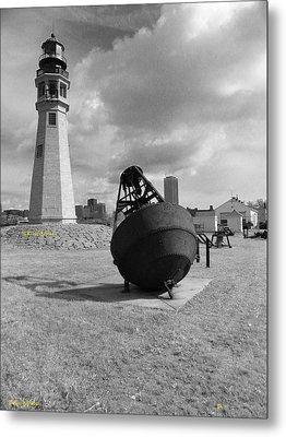 Buffalo Lighthouse And Bouy Metal Print by Joseph Rennie