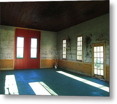 Buildings And Light Metal Print by Kimberly Mackowski