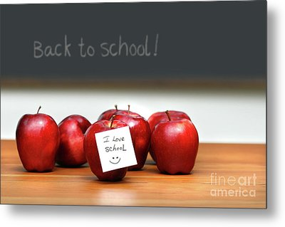 Bunch Of Red Apples Metal Print by Sandra Cunningham