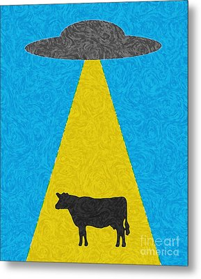 Burger To Go Metal Print by Tony Cooper