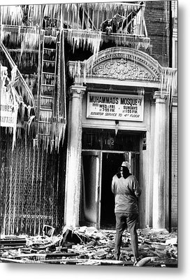 Burned Out Nation Of Islam Mosque No. 7 Metal Print by Everett