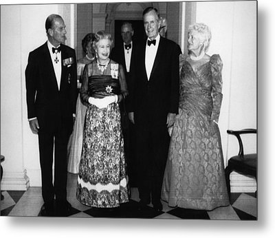 Bush Sr. Presidency. Duke Of Edinburgh Metal Print by Everett