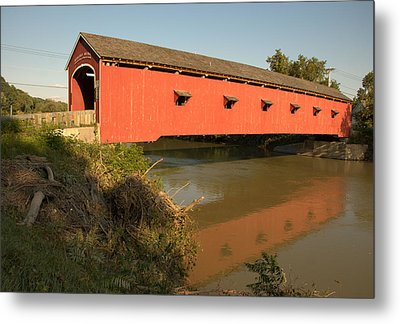 Metal Print featuring the photograph Buskirk Covered Bridge by Steven Richman