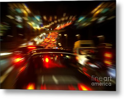 Busy Highway Metal Print by Carlos Caetano