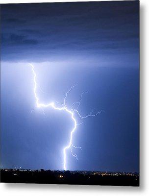 C2g Lightning Strike Metal Print by James BO  Insogna