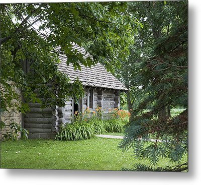 Cabin In The Woods - Little House Wayside Metal Print