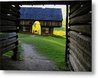 Metal Print featuring the photograph Cade's Cove Cantilever by Doug McPherson