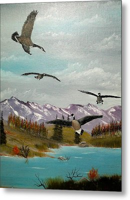 Metal Print featuring the painting Canada Air Show by Al  Johannessen
