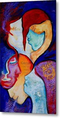Cancer 7 Faces Of Grieving Metal Print by Claudia Fuenzalida Johns