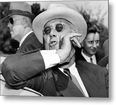 Candid Photo Of President Franklin Metal Print by Everett