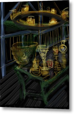 Candle Glow Metal Print by Russell Pierce