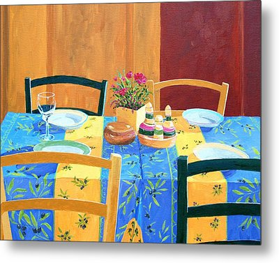 Cannes table setting painting by keith wilkie for Table 22 cannes