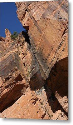 Canyon Walls Metal Print by Marta Alfred