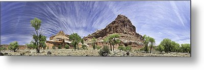 Metal Print featuring the photograph Capitol Reef Cloud Show by Gregory Scott