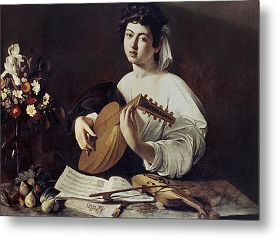 Caravaggio: Luteplayer Metal Print by Granger