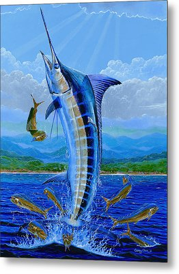 Caribbean Blue Metal Print by Carey Chen