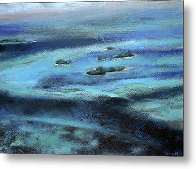Caribbean Blue Metal Print by Tom Smith