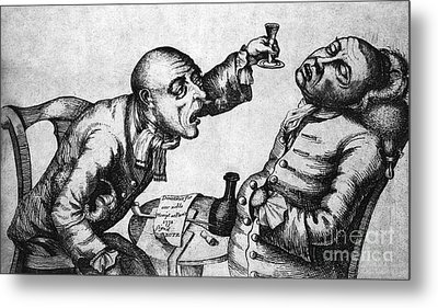 Caricature Of Two Alcoholics, 1773 Metal Print by Science Source