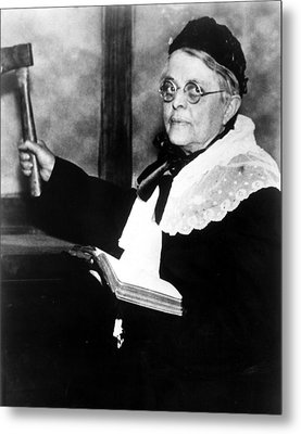 Carrie Nation, Circa 1900 Metal Print by Everett