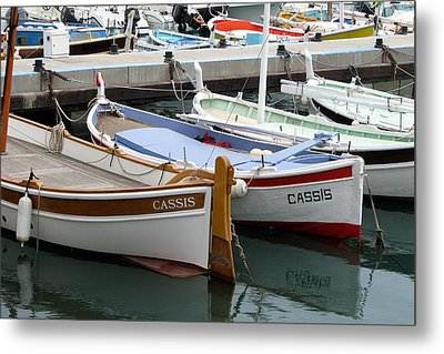 Cassis Harbor Metal Print by Carla Parris