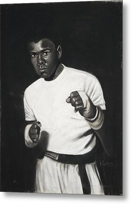 Cassius Clay Metal Print by L Cooper
