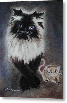 Cat N Mouse Say Cheeeeeeese Metal Print by Carla Carson
