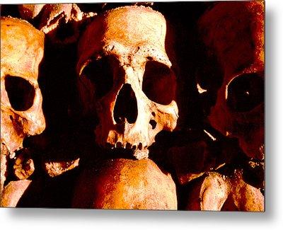 Catacombs In Paris Metal Print by Julie VanDore