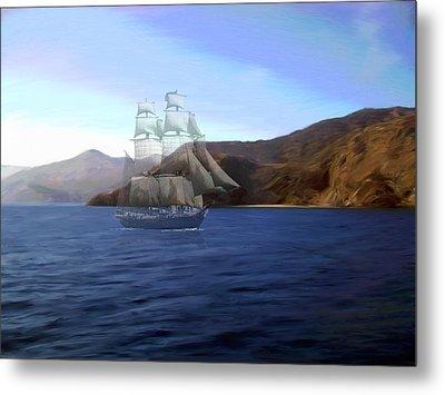 Catalina Shoreline Ghost Ship Metal Print by Snake Jagger