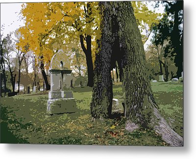 Cemetery Tree Metal Print by Kimberly Mackowski