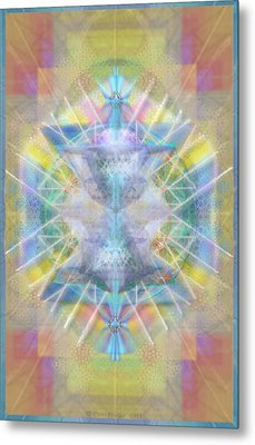 Metal Print featuring the digital art Chalice Of Vortexes Chalicell Rings On Renaissance Back by Christopher Pringer