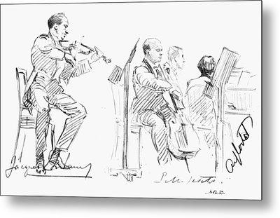 Chamber Musicians, C1935 Metal Print by Granger