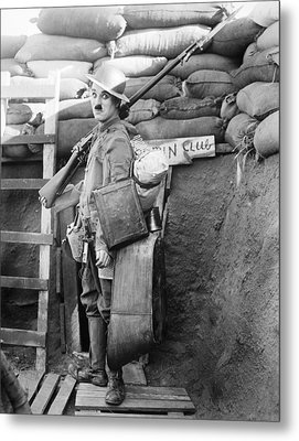 Chaplin: Shoulder Arms Metal Print by Granger