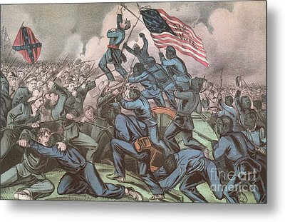 Charge Of The 54th Massachusetts Metal Print by Photo Researchers