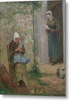 Charity Metal Print by Camille Pissarro